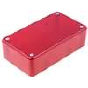 Krabička univerzální X:71,5mm Y:124mm Z:38mm ABS červená