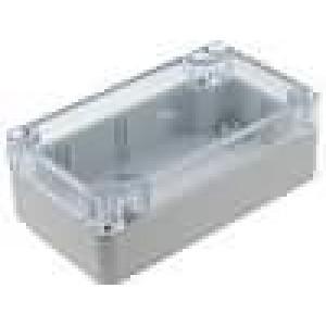 Krabička univerzální X:65mm Y:115mm Z:40mm polykarbonát šedá