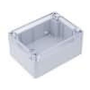 Krabička univerzální X:90mm Y:115mm Z:55mm polykarbonát šedá