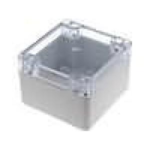 Krabička univerzální X:80mm Y:82mm Z:55mm polykarbonát šedá IP65