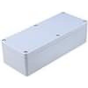 Krabička univerzální X:80mm Y:195mm Z:55mm ABS šedá IP65