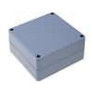 Krabička univerzální X:120mm Y:120mm Z:60mm ABS šedá IP65