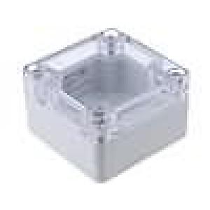 Krabička univerzální 1554 X:65mm Y:65mm Z:40mm polykarbonát šedá
