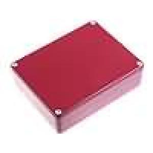 Krabička univerzální 1590 X:94mm Y:119mm Z:34mm hliník červená