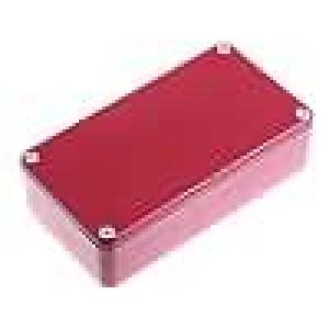 Krabička univerzální 1590 X:60mm Y:112mm Z:31mm hliník červená