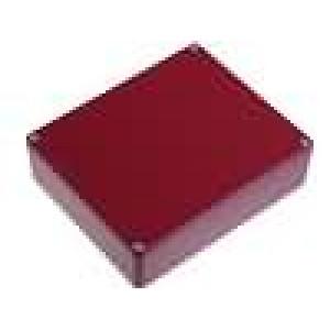 Krabička univerzální 1590 X:121mm Y:145mm Z:39mm hliník červená