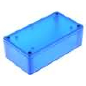 Krabička univerzální 1591 X:66mm Y:121mm Z:40mm ABS modrá IP54