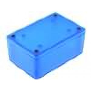 Krabička univerzální 1591 X:57mm Y:87mm Z:39mm ABS modrá IP54