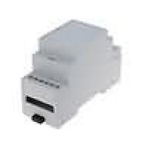 Kryt na přípojnici DIN MODULBOX W:36mm H:90mm D:58mm noryl