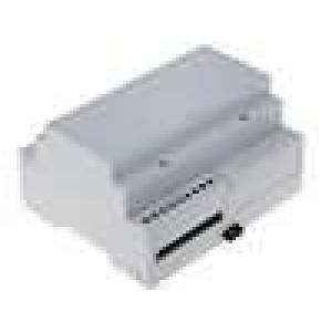 Kryt na přípojnici DIN MODULBOX W:106mm H:90mm D:58mm noryl