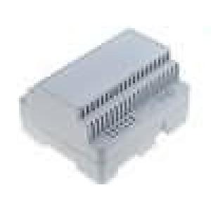 Kryt na přípojnici DIN X:105mm Y:91mm Z:60mm ABS šedá