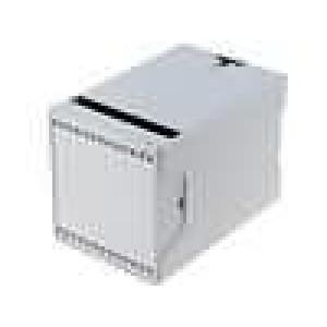 Kryt na přípojnici DIN CN X:70mm Y:109mm Z:75mm ABS šedá