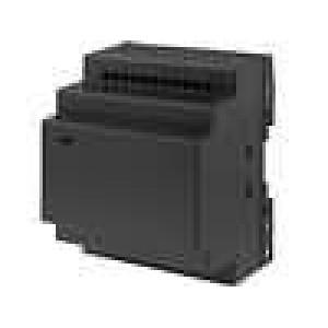 Kryt na přípojnici DIN X:92mm Y:76mm Z:60mm černá