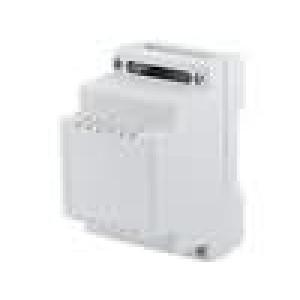 Kryt na přípojnici DIN X:53,4mm Y:89,4mm Z:65,2mm ABS šedá