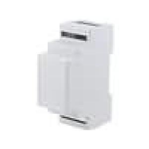 Kryt na přípojnici DIN X:34,4mm Y:88,8mm Z:62,8mm ABS šedá