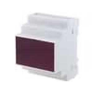 Kryt na přípojnici DIN X:70mm Y:90mm Z:65mm polystyrén šedá