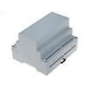 Kryt na přípojnici DIN HUT X:105mm Y:90mm Z:71mm noryl šedá