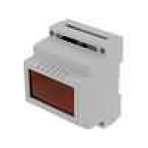 Kryt na přípojnici DIN X:70mm Y:89mm Z:64,6mm ABS šedá