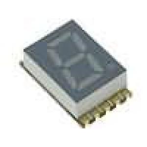 LED display SMD jednomístný 7-segmentový 7,62mm červená