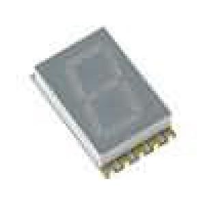 LED display SMD jednomístný 7-segmentový 10,16mm