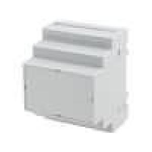 Kryt na přípojnici DIN X:70mm Y:90mm Z:65mm ABS šedá