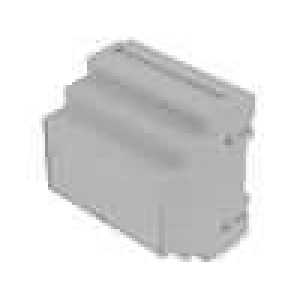 Kryt na přípojnici DIN X:87,5mm Y:90mm Z:65mm ABS šedá
