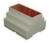 Kryt na přípojnici DIN X:105mm Y:90mm Z:65mm ABS šedá