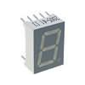 LED display jednomístný 7-segmentový 13,2mm   anoda