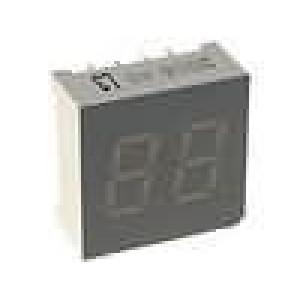 LED display dvoumístný 7-segmentový 7,6mm   anoda