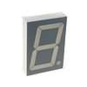 LED display jednomístný 7-segmentový 56,9mm   katoda