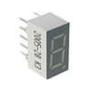 LED display jednomístný 7-segmentový 9,14mm   katoda