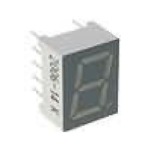LED display jednomístný 7-segmentový 9,9mm červená katoda