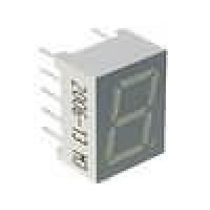 LED display jednomístný 7-segmentový 9,9mm   katoda