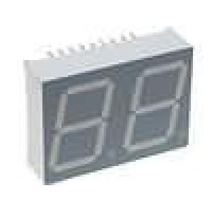 LED display dvoumístný 7-segmentový 20mm   1,9-4,7mcd