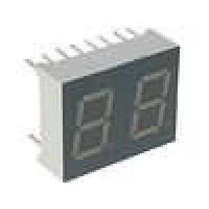 LED display dvoumístný 7-segmentový 10mm   3-8mcd
