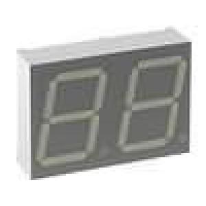 LED display dvoumístný 7-segmentový 20mm   3-10,5mcd