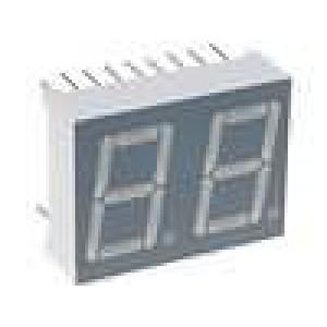 LED display dvoumístný 7-segmentový 14mm   anoda