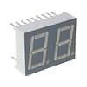 LED display dvoumístný 7-segmentový 14mm   katoda