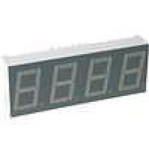 LED display čtyřmístný 7-segmentový 14mm   1,9-4,7mcd