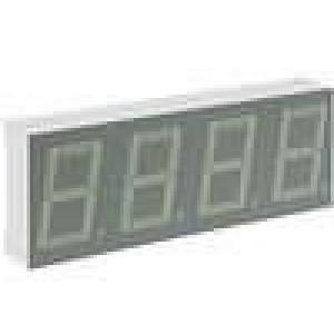 LED display čtyřmístný 7-segmentový 14mm červená 1,9-8mcd
