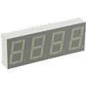 LED display čtyřmístný 7-segmentový 14mm   3-13mcd