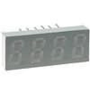 LED display čtyřmístný 7-segmentový 8mm modrá 3-6mcd