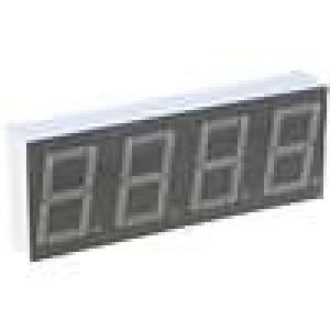 LED display čtyřmístný 7-segmentový 14,2mm   3-6mcd