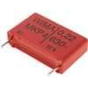 Kondenzátor polypropylénový 220nF 630VDC 22,5mm 250V/μs