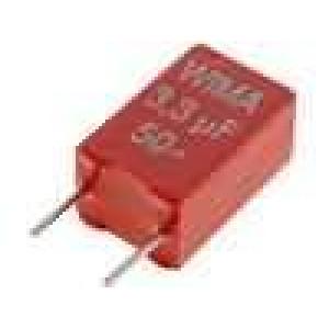 Kondenzátor polyesterový 3,3uF 30VAC 50VDC rozteč 5mm