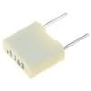 Kondenzátor polyesterový 100nF rozteč 5mm ±5% 2,5x6,5x7,2mm