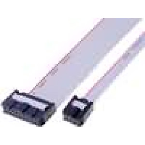 Plochý kabel s konektory IDC 6x28AWG R.pásu:1,27mm 0,6m
