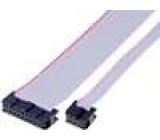 Plochý kabel s konektory IDC 12x28AWG R.pásu:1,27mm 0,3m