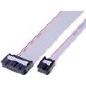Plochý kabel s konektory IDC 16x28AWG R.pásu:1,27mm 0,3m