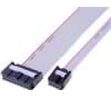Plochý kabel s konektory IDC 18x28AWG R.pásu:1,27mm 0,15m